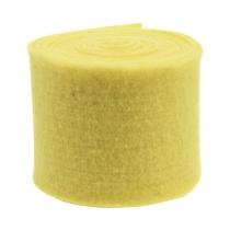 Nastro in feltro giallo chiaro 15 cm 5 m