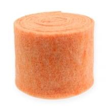 Nastro in feltro arancione 15 cm 5 m