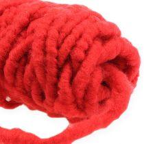Cordoncino in feltro con velcro Mirabell rosso 25m