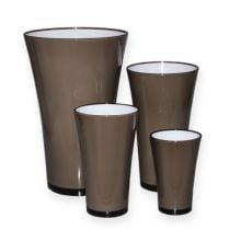 "Vaso ""Fizzy"" grigio platino da Ø13,5cm a circa Ø28,5cm, 1pce"