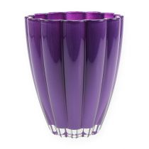 """Vaso in vetro """"Bloom"""" Viola Ø14cm H17cm"""