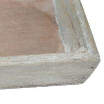 Vassoio in legno grigio 57 cm x 17 cm