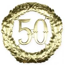 Numero anniversario 50 in oro Ø40cm