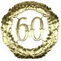 Numero anniversario 60 in oro Ø40cm