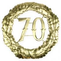 Numero anniversario 70 in oro Ø40cm