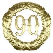 Numero anniversario 90 in oro Ø40cm