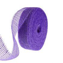 Nastro di iuta viola 5 cm 40 m