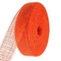 Nastro di iuta arancione 5 cm 40 m