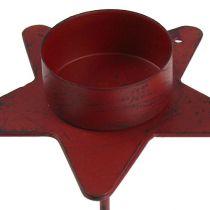 Stella porta tealight da collegare in rosso