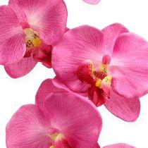 Orchidea artificiale con foglie Rosa 68 cm
