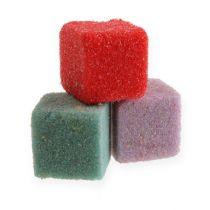 Mini-cubo colorato in schiuma floreale bagnata 300pz