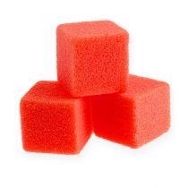 Mini cubo in schiuma bagnata rosso 300p