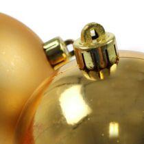 Palla di Natale oro 10 cm 4 pezzi