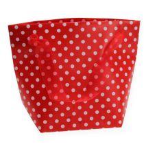 Sacchetto regalo rosso, bianco 31 cm 5 pezzi
