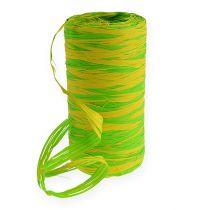 Cinturino in rafia bicolore verde-giallo 200m