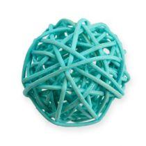 Palla in rattan blu, turchese, sbiancato 30 pezzi