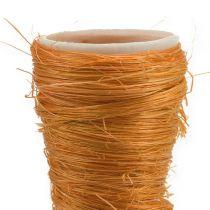 Vaso a punta Sisal arancione Ø4,5cm L60cm 5 pezzi