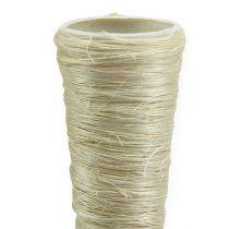 Vaso in sisal sbiancato Ø3,5 cm L40 cm 5 pezzi