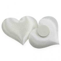 Decorazione cuore bianco 28x32mm 100 pezzi