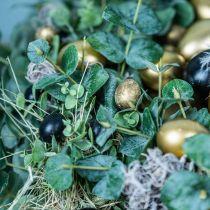 Uovo di quaglia decoro nero vuoto 3cm decoro primaverile decoro naturale 50p