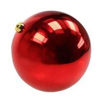 Palla di Natale media plastica rossa 20cm
