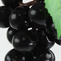 Mini uva artificiale nera 9 cm