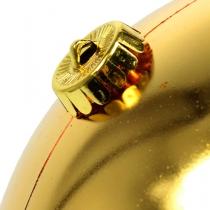 Palla di Natale media oro 20 cm plastica