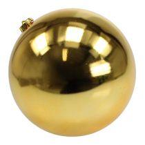Palla di Natale in plastica grande oro Ø25cm