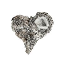 Coni cuore vegetale 20x20 cm imbiancati 3 pezzi