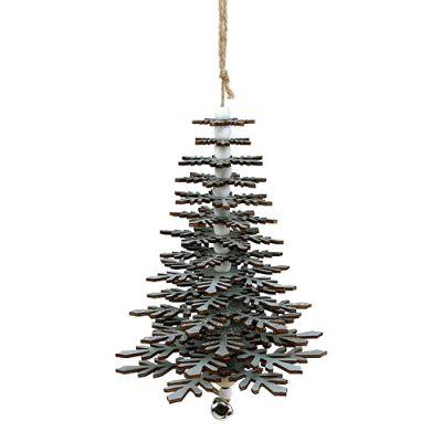 Albero Di Natale 40cm.Albero Di Natale Da Sospendere Con Campana Colore Argento 40cm Acquista A Buon Mercato Online