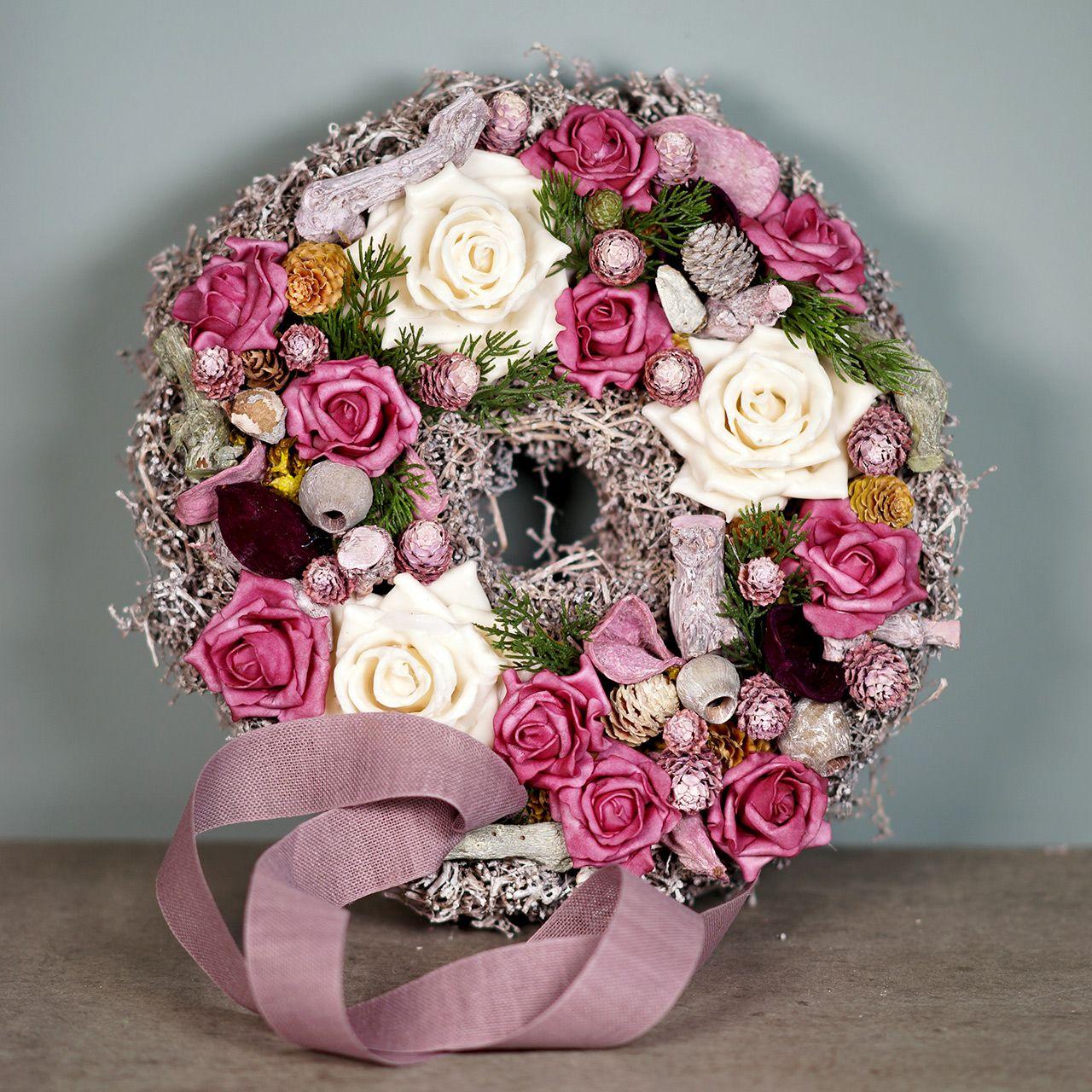 Schiuma schiumosa rosa colorato Ø15cm 4 pezzi