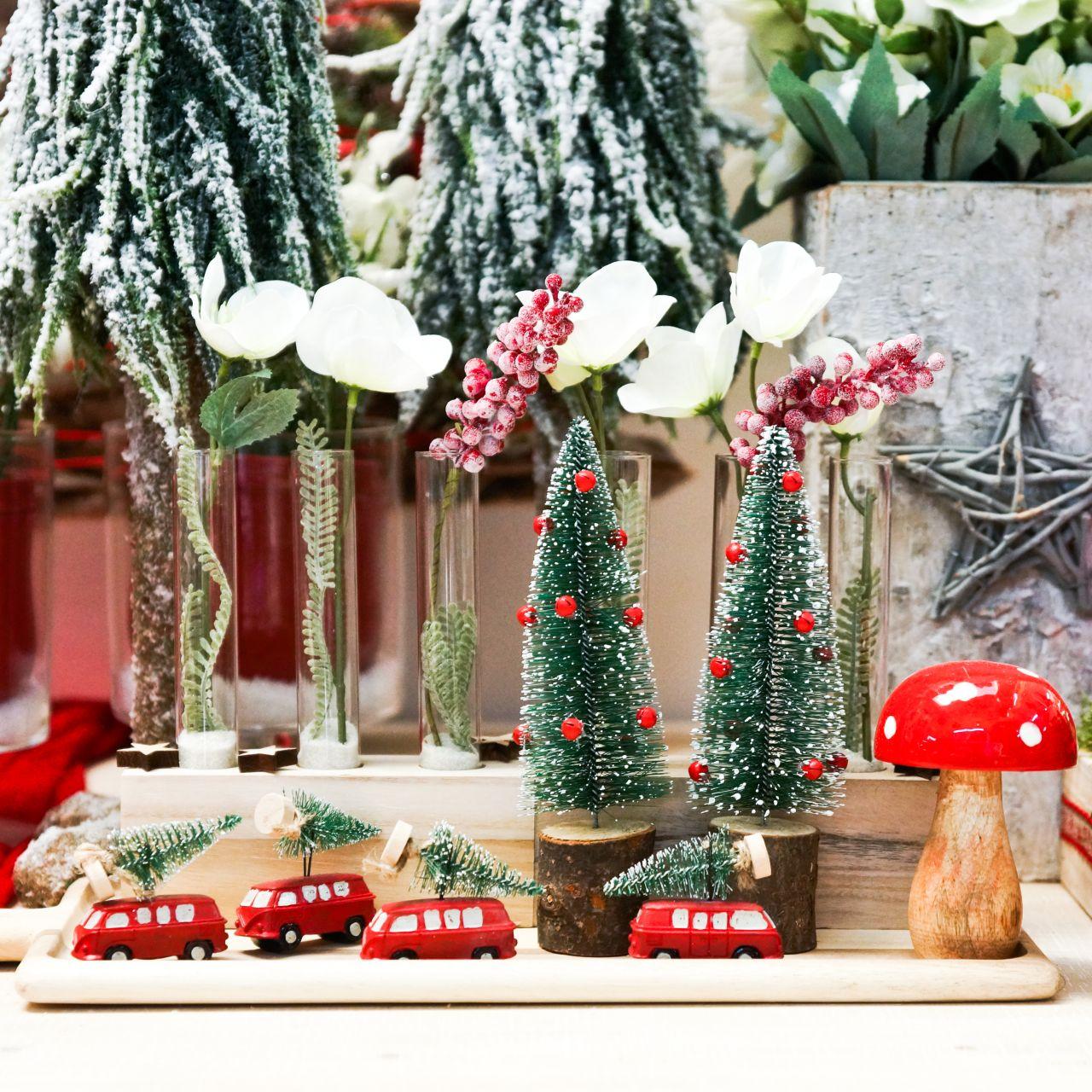 Decorazione per albero di Natale Macchina con abete Rosso / verde 2 pezzi