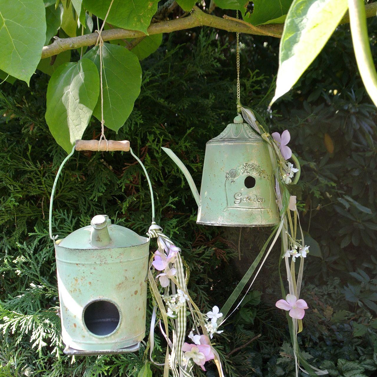 Brocca per olio Birdhouse verde antico Ø16cm H20cm