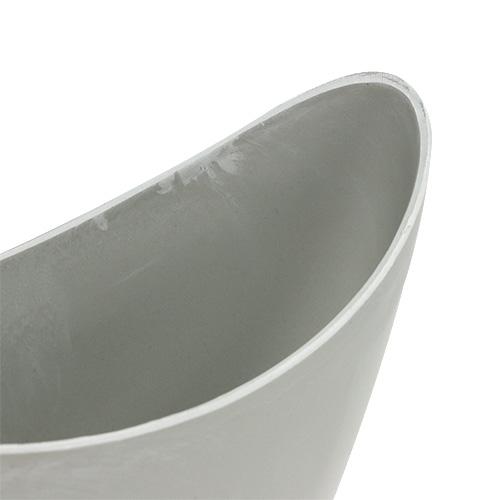 Ciotola decorativa in plastica grigia 20 cm x 9 cm H11,5 cm, 1pz