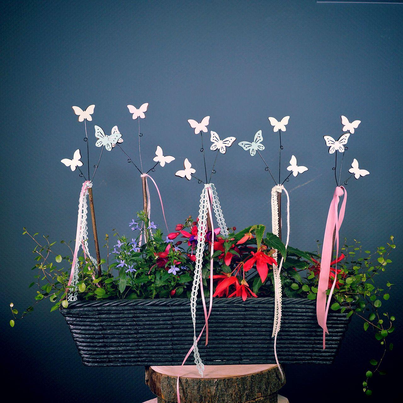 Adesivo decorativo farfalla H43cm 6 pezzi