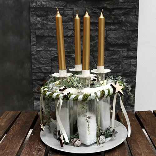 Portacandela per tealight crema Ø9cm H9cm