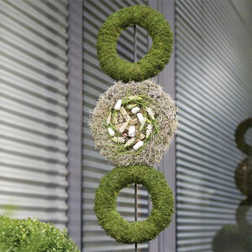 Corona ad anello in schiuma floreale H4cm Ø30cm 4 pezzi