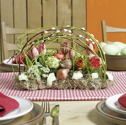 Decorazione da tavolo in mattoni di schiuma floreale 29 cm x 12 cm x 8,5 cm 4 pezzi