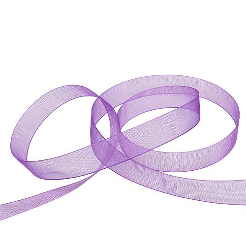 Nastro in organza con cimosa 1,5 cm 50 m viola medio