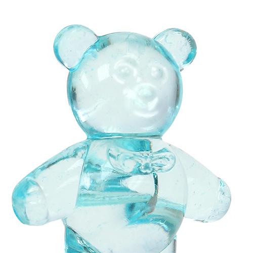 Decorazione da tavola per la nascita dell'orso blu 3.5cm 60p 60