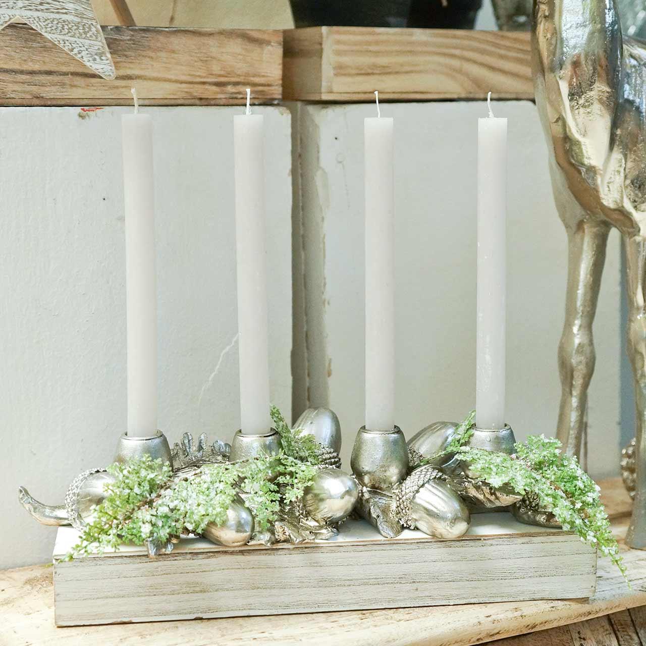 Candeliere decorazione natalizia per 4 candele ghiande 44cm