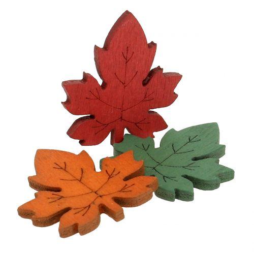 Foglia d'acero colorata per cospargere 3,5 cm 72 pezzi