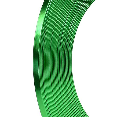 Filo piatto in alluminio verde mela 5mm 10m