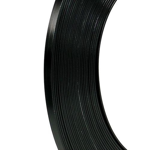 Cavo piatto in alluminio nero 5mm 10m