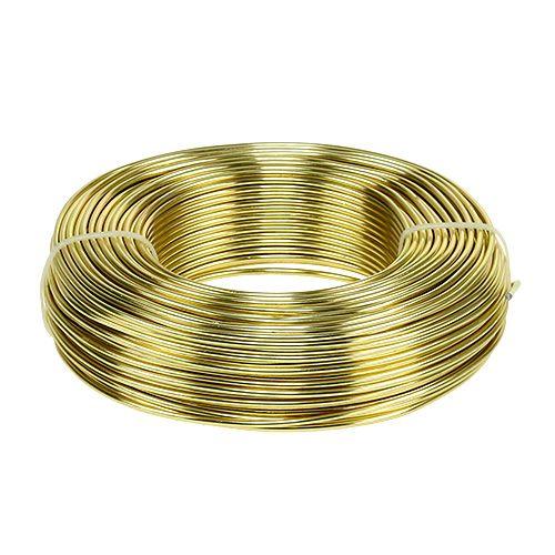 Filo di alluminio Ø2mm 500g 60m oro