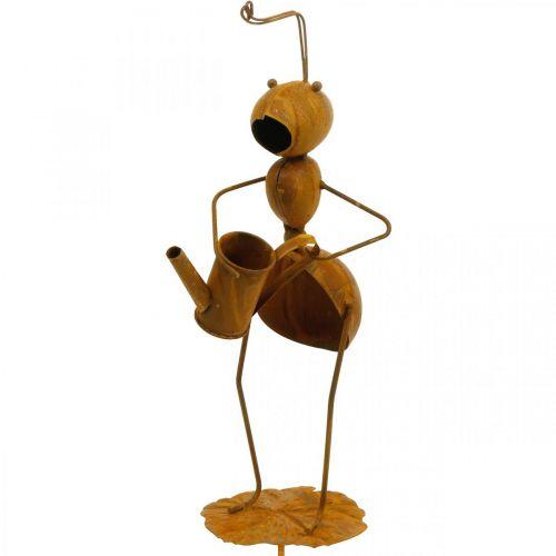 Formica plug decorativa, decorazione letto, formica con annaffiatoio, patina plug fiore