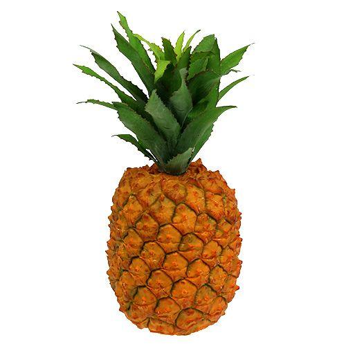 Ananas artificialmente 21 cm arancione
