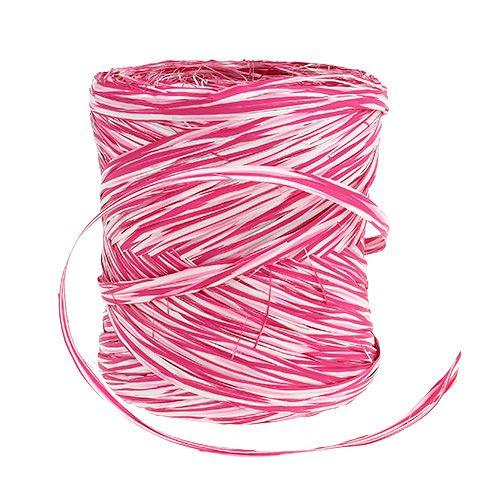 Bast come un nastro regalo rosa-bianco 200m