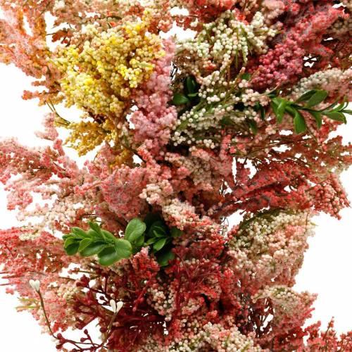 Ghirlanda di fiori artificiali ghirlanda di erica fiori di seta rosa