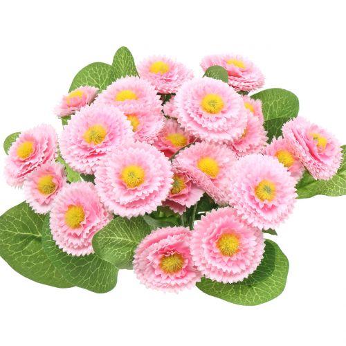 Mazzo di Bellis rosa chiaro 24 cm 4 pezzi